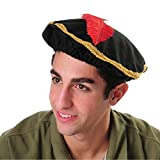 Red Feather Renaissance Hat with Gold Trim (One)