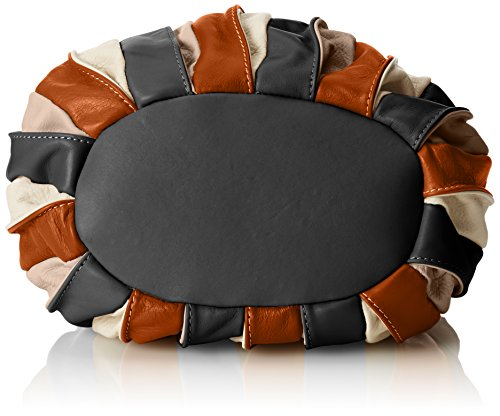 Orange Italy in leather Woman's CTM Cuoio handbag 28x27x28 Cm bag tote genuine in made IAa7qYz