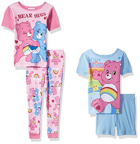 Care Bears Girls' Toddler 4pc Cotton Set,