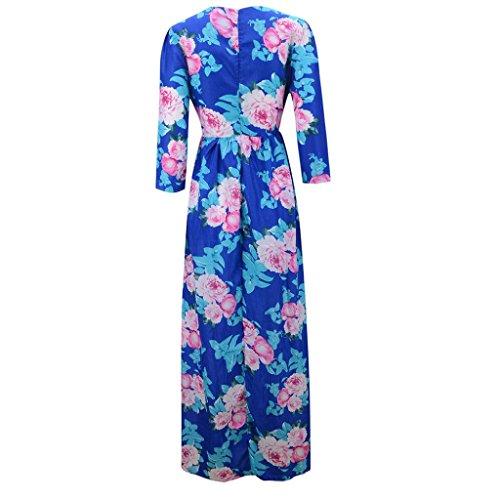 fiesta noche S para mujer verano elegante TAOtTAO Vestido para cóctel boho de floral q8wwzvpan