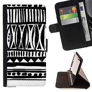 For HTC Desire 626 626w 626d 626g 626G dual sim Case , Dibujado Arte tinta blanca Negro Chevron- la tarjeta de Crédito Slots PU Funda de cuero Monedero caso cubierta de piel