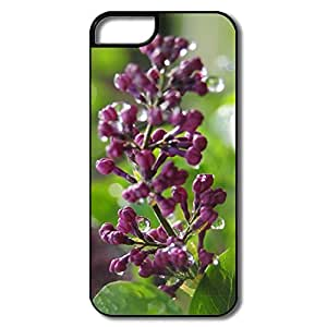 IPhone 5 5S Hard Plastic Cases, Wet Lilac Buds White/black Covers For IPhone 5/5S