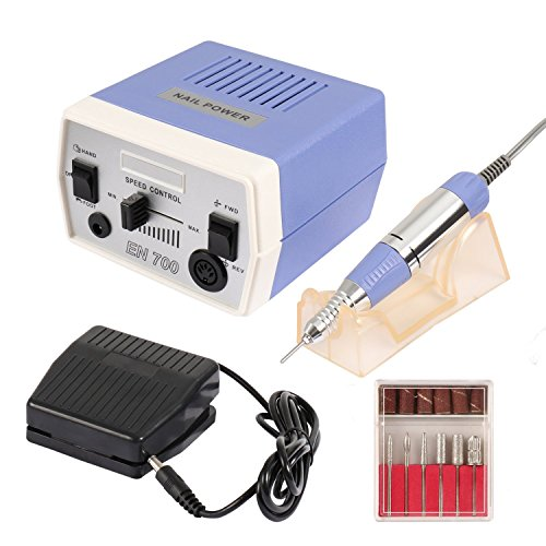Dr.Nail Professional 30000RPM Nail Drill Machine Electric File For Acrylic Gel Nails Grinder Manicure Techs Polisher Machine Low Vibration Low Noise Low Heat by Dr.Nail