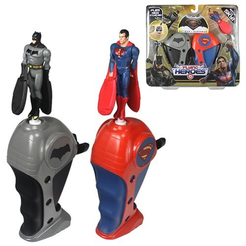 Flying Heroes Mini Batman & Mini Superman Action Figure (Superman Flying)