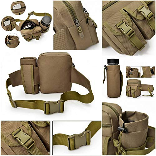 Bigood Water Hiking Trekking Army b Walking Pouch Bottle Travel Waist Green Bag For Outdoors Waterproof AwrAxqnfBR