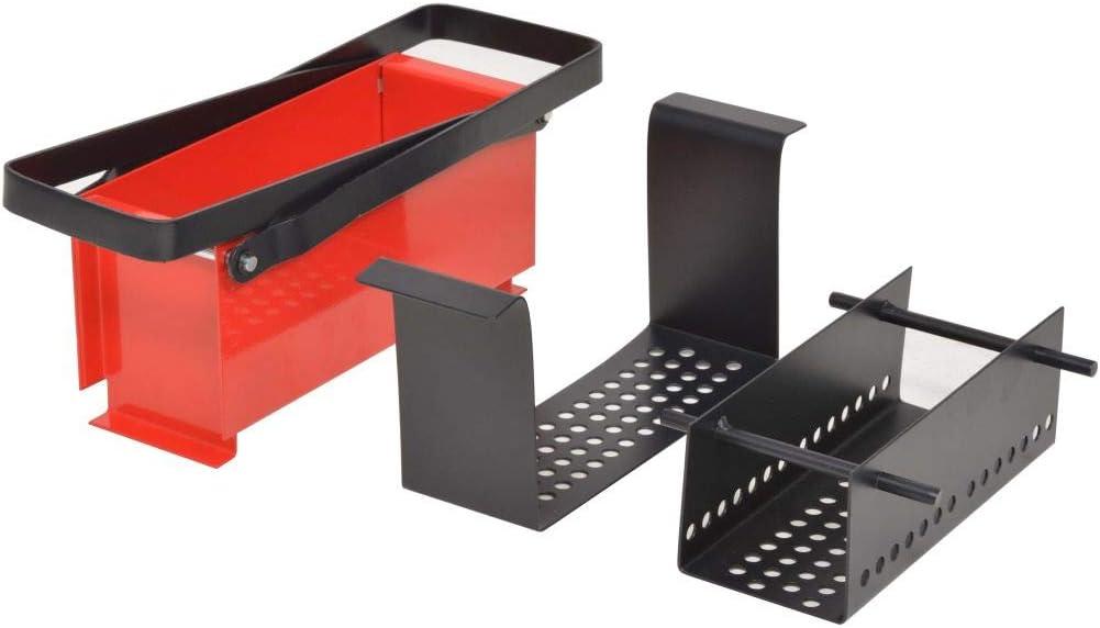 Cardboard Fireplace Steel Black and Red(13.4x5.5x5.5) Extaum Paper Log Briquette Maker,Fire Fuel Brick Block