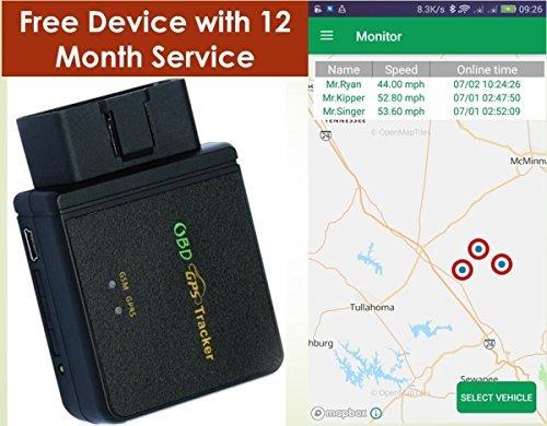 Spectrum Simple - OBD II GPS Tracker - OBD GPS Tracker - $9.95/Month - Location/Speed, Alerts, Geo-Fence - Teen Car Tracker - Car Tracker Teen Driver - F