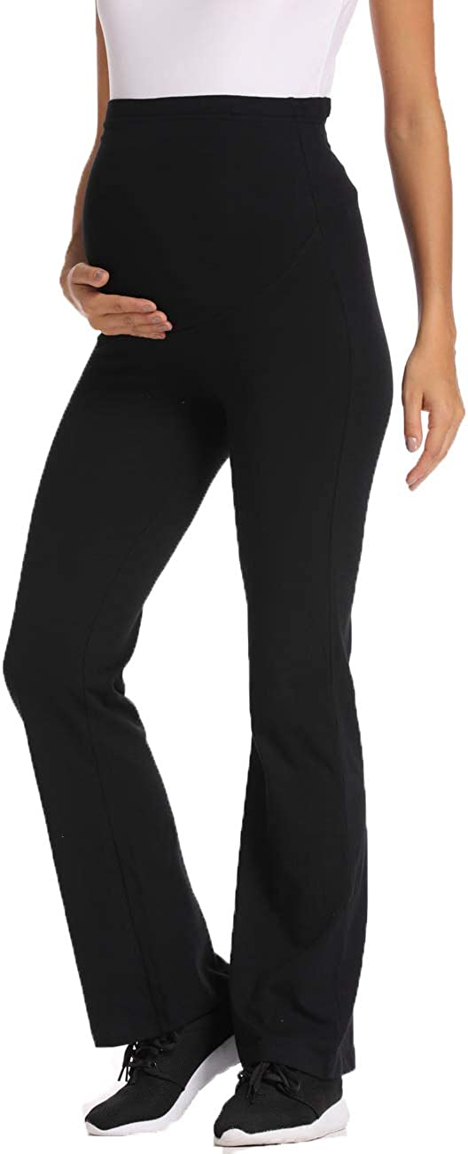 Foucome Maternity Yoga Pants for Women High Waisted Workout Bootcut Lounge Pants