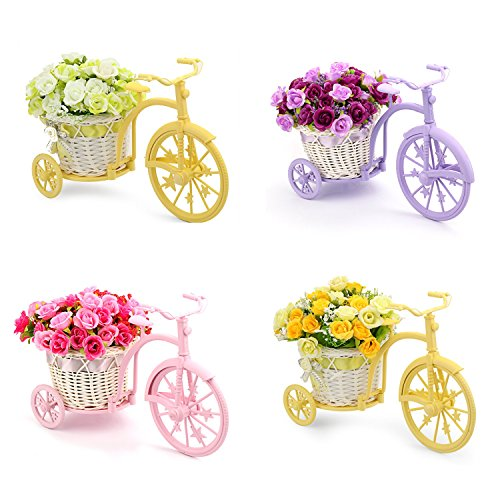 Louis Garden Nostalgic Bicycle Artificial Flower Decor Plant Stand