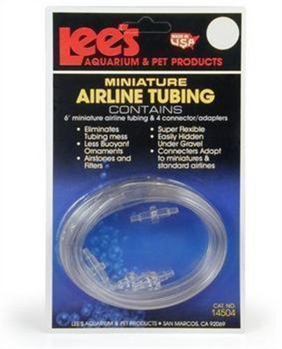 Pet Products Airline Lees (Lee's Mini Airline Tubing, 6-Foot w/4 Connectors)