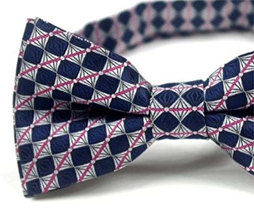 Men Striped Dating Silver Party Gentlemen Blue Tie and Bow Dark Tie Tie Bow Bow Plaid Silver Color SKNSM 7BFqU6xwUz