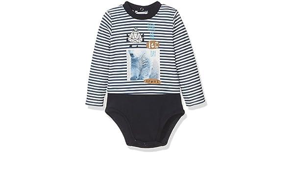1e41baec8 Brums Body Interlock Rigato-camiseta térmica Bebé-Niños BIANCO BLU 02 18  Meses  Amazon.es  Ropa y accesorios