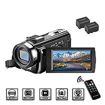 ビデオカメラ Aazomba デジタルビデオカメラ 4K Wi-Fi 4800万画素 16倍デジタルズーム IR赤外線暗視...