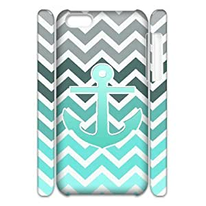 ALICASE Design Diy hard Case Blue Chevron Anchor For Iphone 4/4s [Pattern-1]