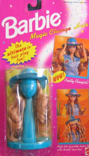 Barbie Magic Change Hair PRETTY COWGIRL! (1993 Arcotoys, (Barbie Wigs)