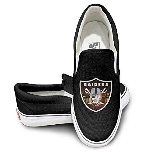 Amone Oakland Raid Oxford Unisex Flat Canvas Shoes Sneaker Black - Nerd Timberlake Justin