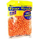 Darice Orange Opaque 9mm, 1000 Pieces Pony Beads