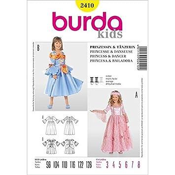 Burda 2411 Schnittmuster Kostüm Fasching Karneval Nixe Meerjungfrau ...