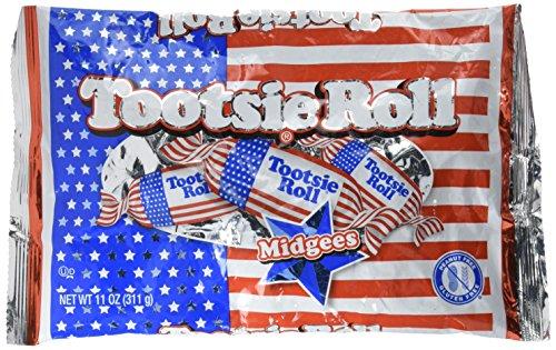 Tootsie USA Flag Roll Midgees: 40-Piece Bag