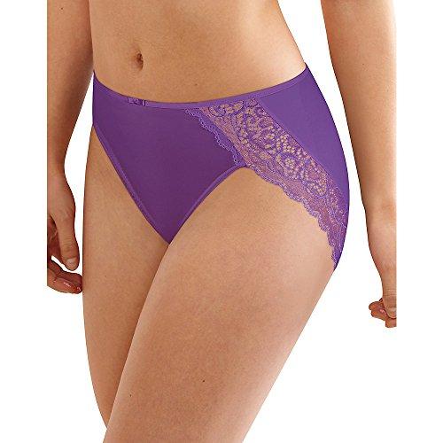rofiber Hi-Cut Brief, 7, Purple Vista (Lace Band Nylon Brief)