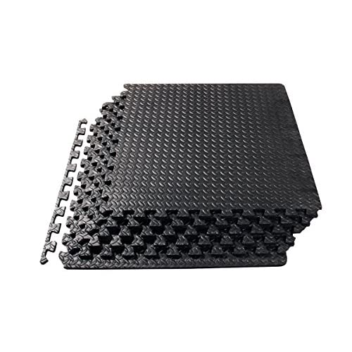 ProsourceFit Puzzle Exercise Mat, EVA Foam Interlocking Tiles, Protective Flooring for Gym Equipment and Cushion for Workouts 51afKvV57lL