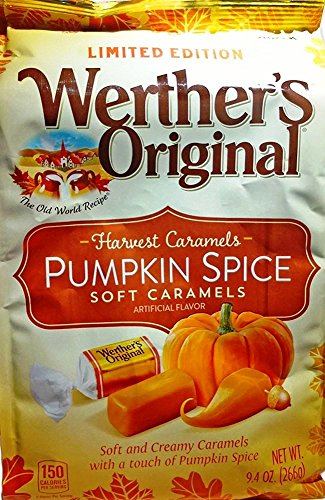 Werther's Original Harvest Caramels: Pumpkin Spice Soft Caramels 9.4 Oz (Pack of 2)