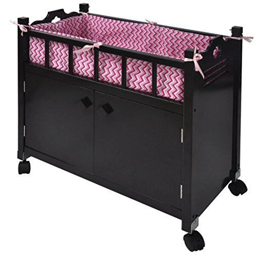 Naomi Kids Doll Crib with Storage Espresso by Naomi Home