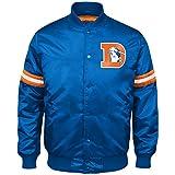 NFL Denver Broncos Men's Retro Satin Full Snap Jacket, Medium, Royal