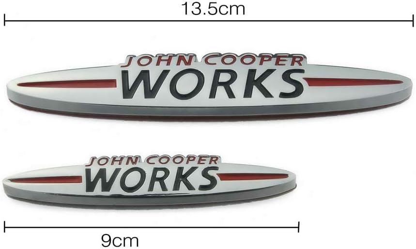 Heinmo Auto K/ühlergrill Emblem Abzeichen Auto Styling 3D Metall f/ür Mini Kupfer John Cooper Works Countryman F//R Serie Universal 90mm