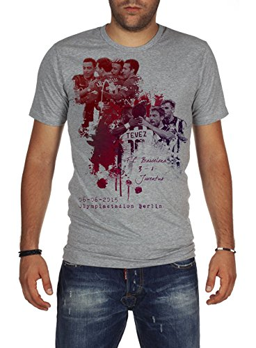 ions League Final 2015 F.C. Barcelona vs Juventus T-Shirt L White (Fc Barcelona Champions League)