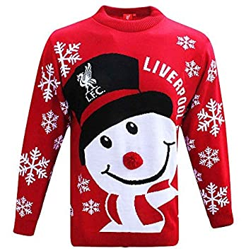 Xmas Official Liverpool FC Knitted Christmas Snowman Jumper (Adults Sizes S  to 3XL) ( f5d3b6a6c