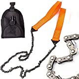 LANIAKEA Survival Pocket Chainsaw, 26 inches Hand Chain Saw with 11 Extremely Sharp Blades, Portable & Durable Survival Gear for Outdoor Camping & Hiking & Tactical Survival