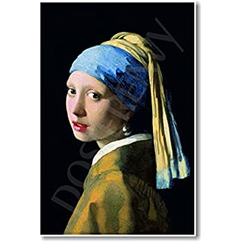 f5b17f7ad29 Girl with a Pearl Earring 1665 - Johannes Vermeer - NEW Fine Arts Poster