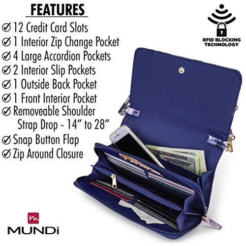 Bouquet RFID Travel Women Glazed Wallet Theft Handbag Bag Vegan Purse For Mundi Crossbody Leather Anti 6HngCC