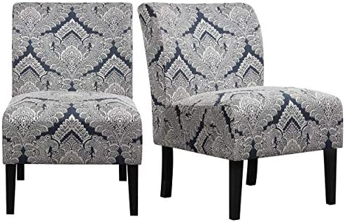 YAHEETECH Living Room Chairs Dining Chairs Armless Accent Chairs Mid-Century Side Chair