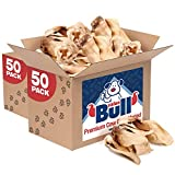 ValueBull Premium Cow Ears, Varied Shapes, 100 Count - Angus Beef Dog Chews, Grass-Fed, Single Ingredient