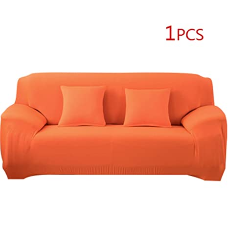 Amazon.com: Solid Color Elastic Stretch Sofa Cover Universal ...