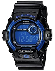 Casio Men's G8900A-1CR G-Shock Shock Resistant Black and Blue Resin Digital Sport Watch