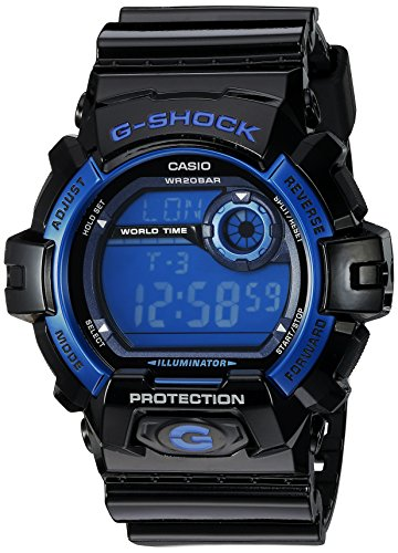 Casio Men's G8900A-1CR G-Shock Black and Blue Resin Digital Sport Watch ()