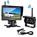 Cheap LeeKooLuu Wireless Backup Camera 7″ Monitor System for RV/SUV/Van/Pickup/Truck/Trailer Rear/Side/Front View System Switchable IP69 Waterproof Night Vision Guide Lines ON/Off