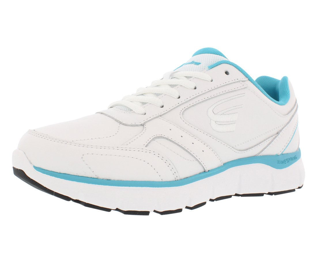 Spira WaveWalker Men's Slip Resistant Walking Shoe B07B9QNXHP 10 C/D US|White/Aqua