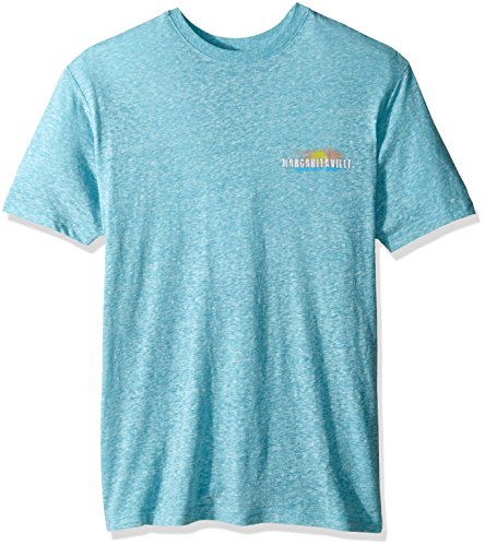 Margaritaville Men's Short Sleeve Key West Sunset Heathered T-Shirt, Coastal Blue, XX-Large