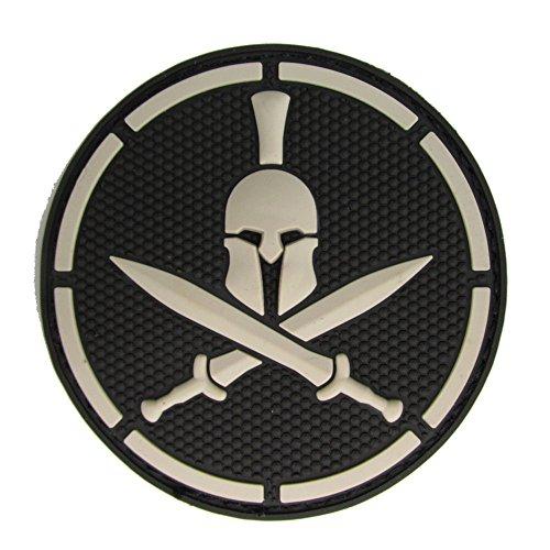 Spartan Helmet Patch - PVC (BLACK (SWAT))