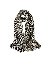 Women's Leopard Scarf Animal Print Shawl And Wraps Oversized - 75 X 40 Inches by AIWANK