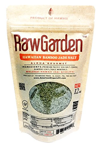 Raw Garden 4 Pack (12 oz Each) Coarse,Hawaiian Black Lava, Red Alea, Green Bamboo, Himalayan Pink Coarse Salt Gourmet Variety Total 3 lbs by Raw Garden (Image #4)