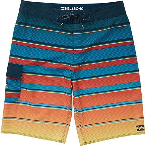 Billabong Men's All Day X Stripe Boardshorts Blue 34 -