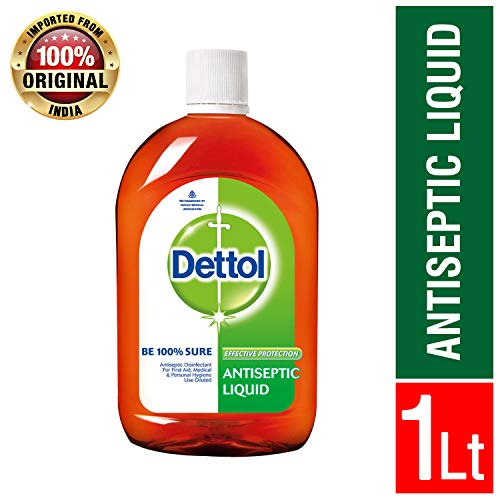 Dettol Antiseptic Disinfectant Liquid 33.8 Ounce (1000 ml) Germ Protection Disinfectant For First Aid, Home and Personal Hygiene (Best Baby Detergent India)