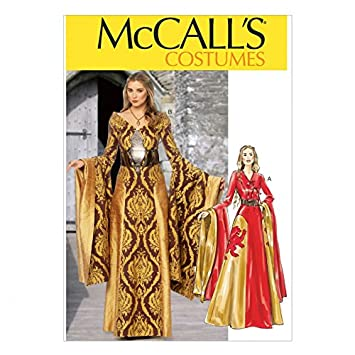 McCall \'s Schnittmuster 6940 Game of Thrones Stil Kleid Größen: 14 ...