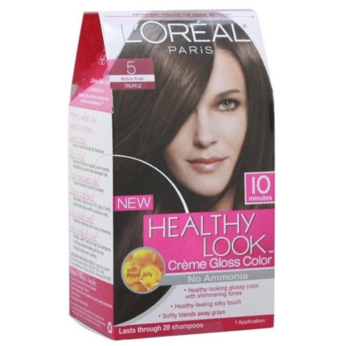 L'Oreal Healthy Look Hair Dye, Creme Gloss Color, Medium ...