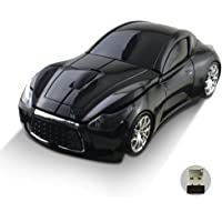 Zacherry 2.4GHz Wireless Cordless Optical Mouse Car Shape Mice +USB Receiver for PC Laptop